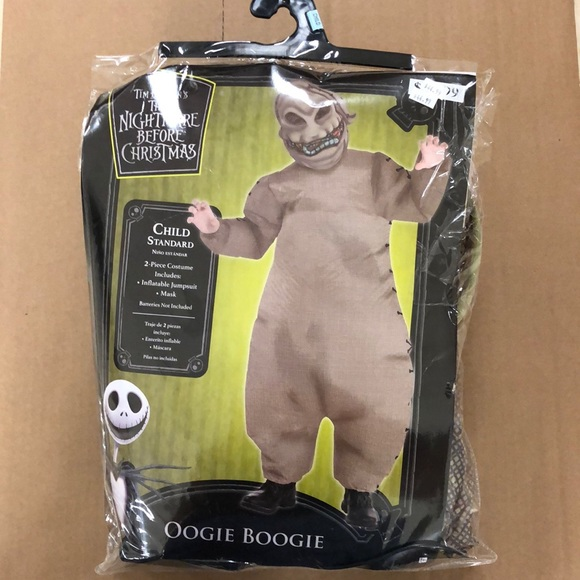 Disney Costumes Nightmare Before Christmas Oogie Boogie Costume Poshmark The oogie boogie man is one of the main characters in tim burton's movie the nightmare before put sweat suit on followed by the oogie boogie costume shell. nightmare before christmas oogie boogie costume